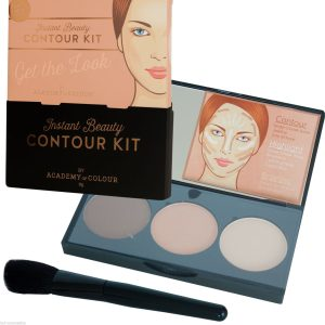 Academy Of Colour Instant Beauty Contour Highlighter Bronzer Kit Brush Palette