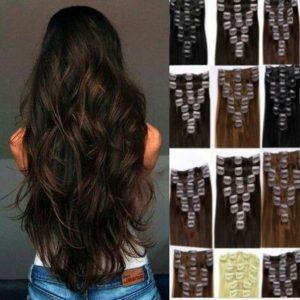 Wavy Clip In Hair Extensions feels like AAA Real Human, Full Head Double Wefted