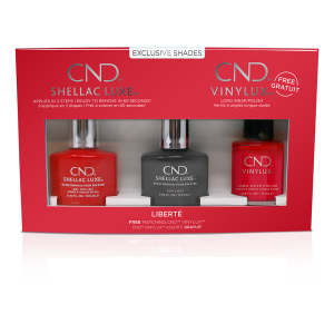 CND SHELLAC LUXE- 3PCS GEL POLISH SET LIBERTE