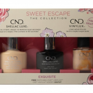 CND SHELLAC SWEET ESCAPE NAIL POLISH COLLECTION EXQUISITE